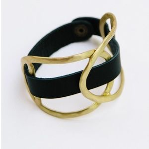 Mata Traders Leather Wrap Cuff new with tags